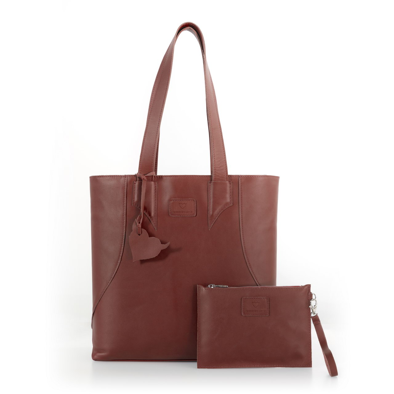 Brava Brown, shopper bag made with real leather