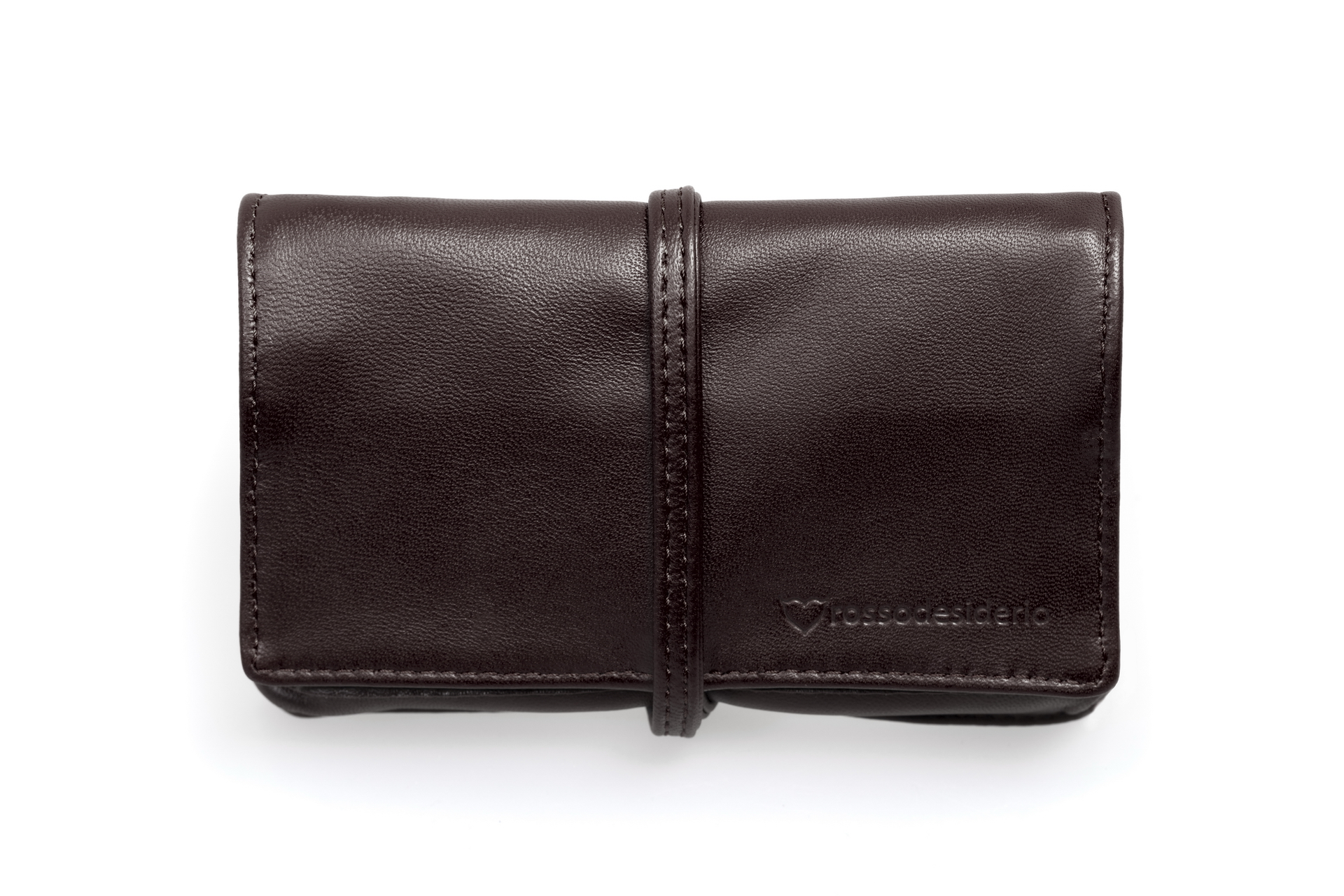 Real leather brown tobacco pouch