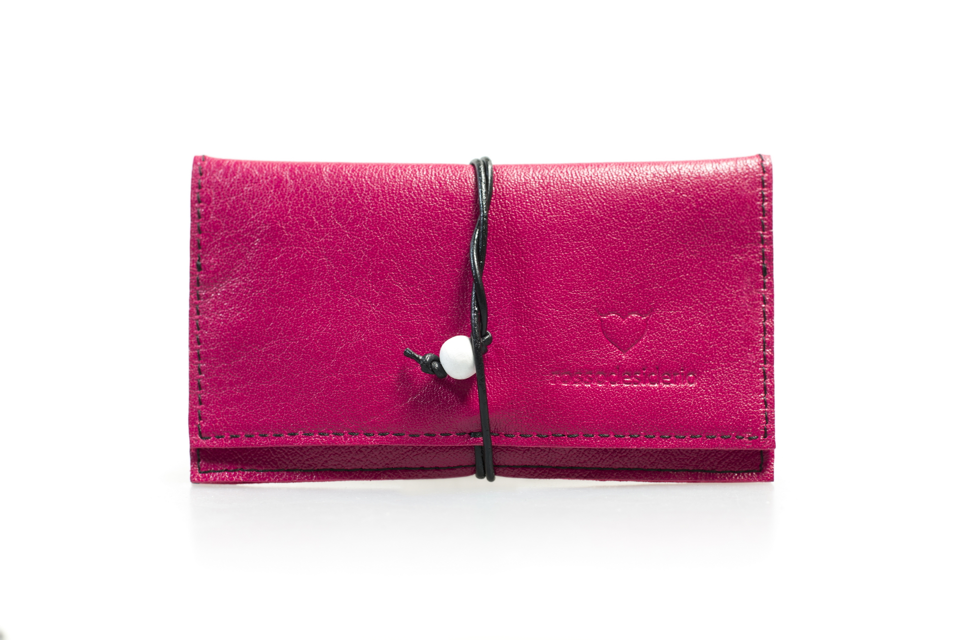 Real leather fuxia tobacco pouch