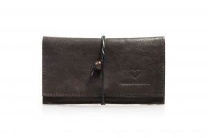 Real leather Airy Blue tobacco pouch