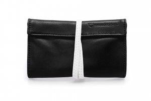 Real leather Black and White tobacco pouch