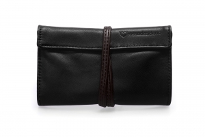 Real leather Black and Brown tobacco pouch